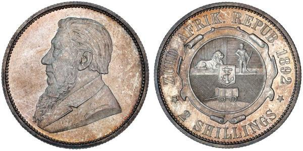1 Florin South Africa Silver Paul Kruger (1825 - 1904)