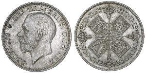1 Florin United Kingdom of Great Britain and Ireland (1801-1922) Silver George V of the United Kingdom (1865-1936)
