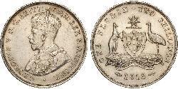 1 Florin / 2 Shilling Australien (1788 - 1939) Silber George V (1865-1936)