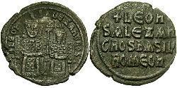 1 Follis 拜占庭帝国 青铜 Leo VI Wise (866-912)