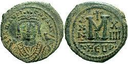 1 Follis 拜占庭帝国 青铜 Maurice Tiberius (539-602)