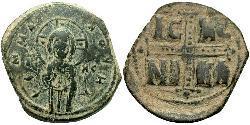1 Follis 拜占庭帝国 青铜 Michael IV (1010-1041)