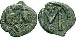 1 Follis Imperio bizantino (330-1453) Bronce Teófilo (813-842)