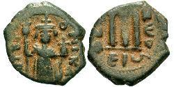 1 Follis Imperio bizantino (330-1453) Bronce Constans II (630-668)