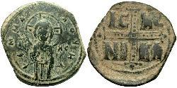 1 Follis Imperio bizantino (330-1453) Bronce Miguel  IV (1010-1041)