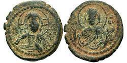 1 Follis Imperio bizantino (330-1453) Bronce Romano IV Diógenes (1030-1072)