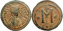 1 Follis Byzantine Empire (330-1453) Bronze Anastasius I (430-518)