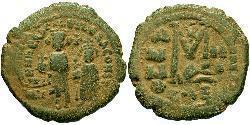 1 Follis Byzantine Empire (330-1453) Bronze Heraclius (575-641)