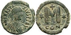1 Follis Byzantinisches Reich (330-1453) Bronze Anastasios I (430-518)