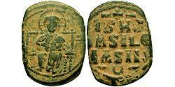 1 Follis Byzantinisches Reich (330-1453) Bronze Constantine IX Monomachus (1000-1055)