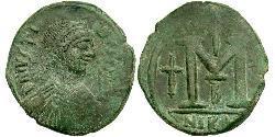 1 Follis Byzantinisches Reich (330-1453) Bronze Justin I (450-527)