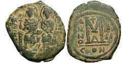 1 Follis Empire byzantin (330-1453) Bronze Justin II (520-578)