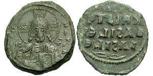 1 Follis Empire byzantin (330-1453) Bronze Constantin VIII (960-1028)