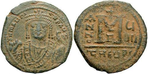 1 Follis Empire byzantin (330-1453) Bronze Maurice I (539-602)