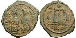 1 Follis Impero bizantino (330-1453) Bronzo Phocas(?-610)