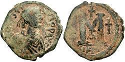 1 Follis Impero bizantino (330-1453) Bronzo Giustino I (450-527)