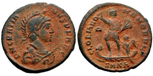 1 Follis / كرونا دنماركي AE2 Western Roman Empire (285-476) Bronze Gratian (359-383)