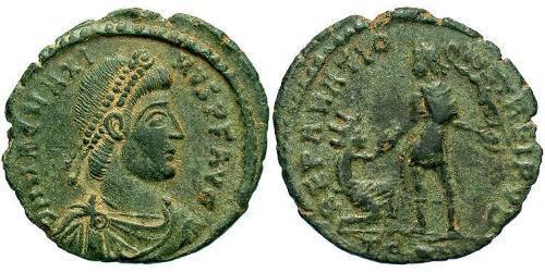 1 Follis / 1 AE2 Western Roman Empire (285-476) Bronze Magnus Maximus (335-388)