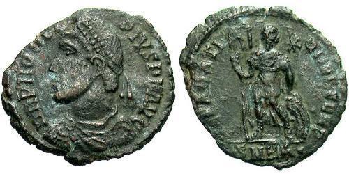 1 Follis / 1 AE3 羅馬帝國 青铜 Procopius (325- 366)