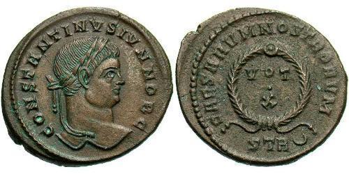 1 Follis / 1 AE3 羅馬帝國 青铜 君士坦提烏斯二世