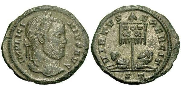 1 Follis / 1 AE3 Imperio romano (27BC-395) Bronce Licinio I (265-324)