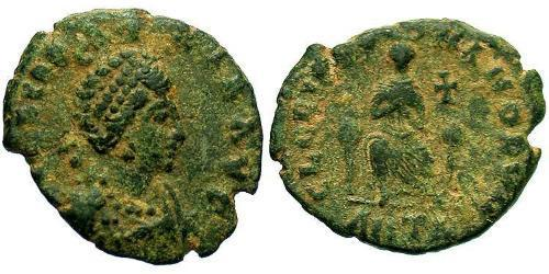 1 Follis / 1 AE3 Empire byzantin (330-1453) Bronze Aelia Eudoxie (?-404)