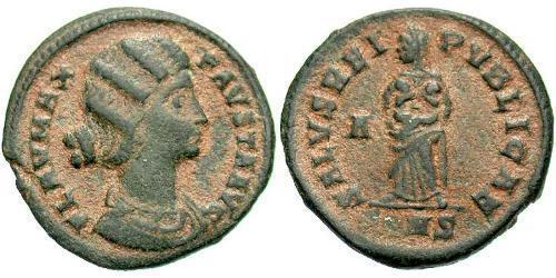 1 Follis / 1 AE3 Empire romain (27BC-395) Bronze Fausta (289-326)