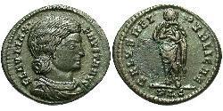 1 Follis / 1 AE3 Roman Empire (27BC-395) Bronze Fausta (289-326)