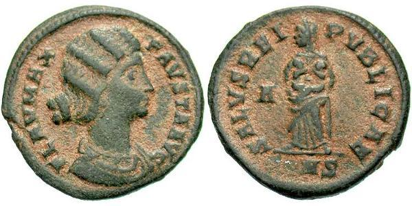 1 Follis / 1 AE3 Roman Empire (27BC-395) Bronze Fausta (289-326)