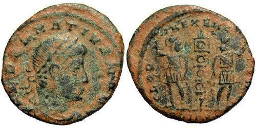 1 Follis / 1 AE3 Impero romano (27BC-395) Bronzo Dalmazio (?-337)