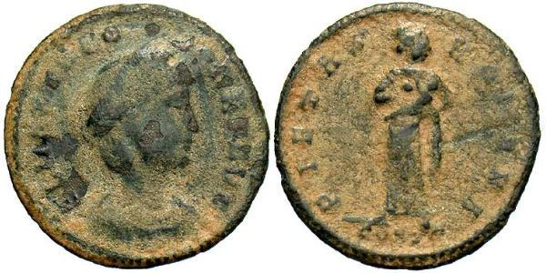 1 Follis / 1 AE4 羅馬帝國 青铜 Theodora (500-548)
