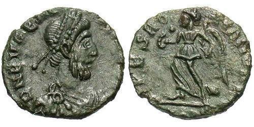 1 Follis / 1 AE4 Western Roman Empire (285-476) 青铜 Eugenius (?-394)