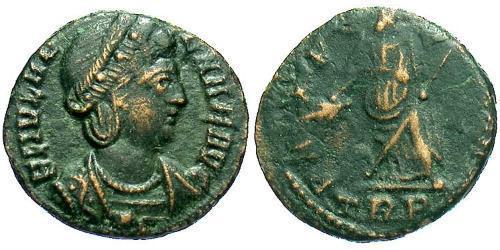 1 Follis / 1 AE4 Römische Kaiserzeit (27BC-395) Bronze Flavia Iulia Helena (250 -330)
