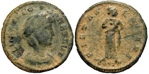1 Follis / 1 AE4 Römische Kaiserzeit (27BC-395) Bronze Theodora (500-548)