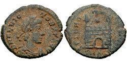 1 Follis / 1 AE4 Roman Empire (27BC-395) Bronze Flavius Victor (?-388)