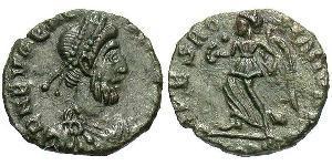 1 Follis / 1 AE4 Western Roman Empire (285-476) Bronze Eugenius (?-394)