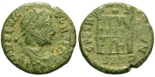 1 Follis / 1 AE4 Western Roman Empire (285-476) Bronze Flavius Victor (?-388)