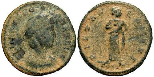 1 Follis / 1 AE4 Impero romano (27BC-395) Bronzo Theodora (500-548)