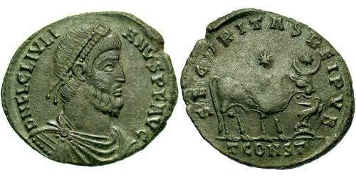 1 Follis /  AE1 Roman Empire (27BC-395) Bronze Julian the Apostate (331-363)