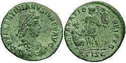 1 Follis /  AE2 羅馬帝國 青铜 瓦伦提尼安二世