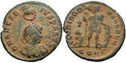 1 Follis /  AE2 Imperio romano de Occidente (285-476) Bronce Arcadio (377-408)