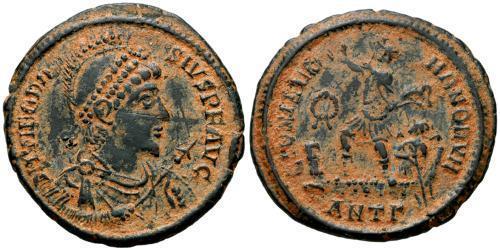 1 Follis /  AE2 Roman Empire (27BC-395) Bronze Theodosius I (347-395)