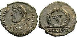 1 Follis /  AE3 羅馬帝國 青铜 约维安