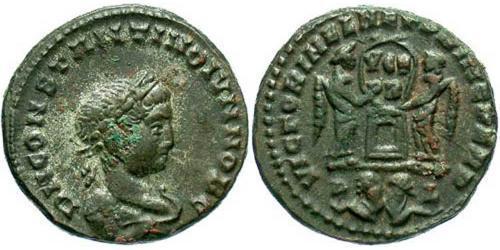 1 Follis /  AE3 羅馬帝國 青铜 君士坦提烏斯二世