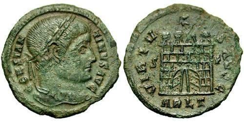 1 Follis /  AE3 羅馬帝國 青铜 君士坦丁大帝