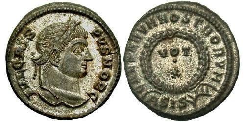 1 Follis /  AE3 羅馬帝國 青铜 Crispus (305 - 326)