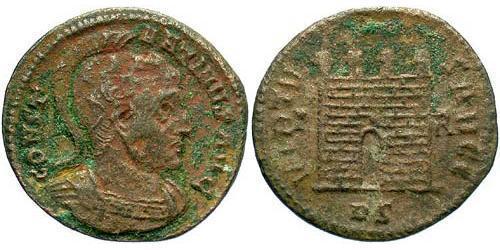 1 Follis /  AE3 Imperio romano (27BC-395) Bronce Constantino I (272 - 337)