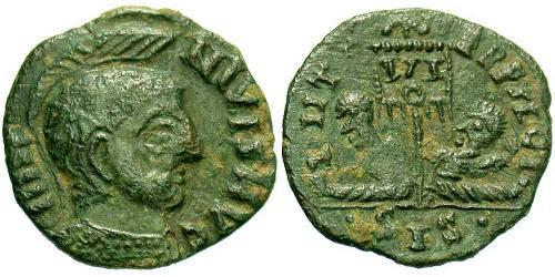 1 Follis /  AE3 Imperio romano (27BC-395) Bronce Licinio I (265-324)