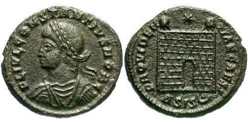 1 Follis /  AE3 Imperio romano (27BC-395) Bronce Constancio II (317 - 361)