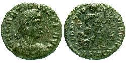1 Follis /  AE3 Imperio romano de Occidente (285-476) Bronce Graciano (359-383)